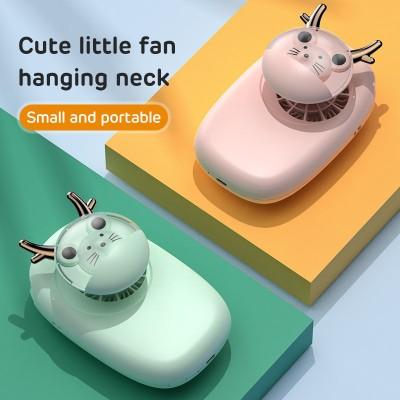 Hanging Neck Fan Mini Cute Pet Fan Student Hand-held Leafless Hanging Neck Fan