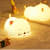 Cartoon LED Home Silicone Lamp Rechargeable Night Light Cute Cat Night Light 5