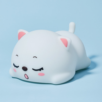 Cartoon LED Home Silicone Lamp Rechargeable Night Light Cute Cat Night Light