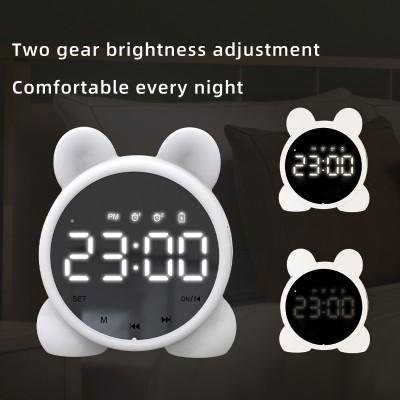 Bluetooth Speaker Alarm Clock Wireless Computer Mini High Volume Heavy Bass Alarm Clock Home Desktop Small Stereo