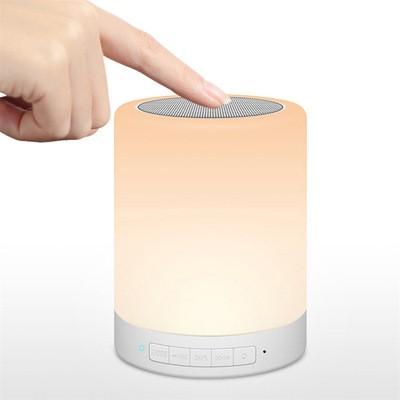 Smart Colorful Atmosphere Light Bluetooth Speaker Creative Home Bedside Led Light Card Audio