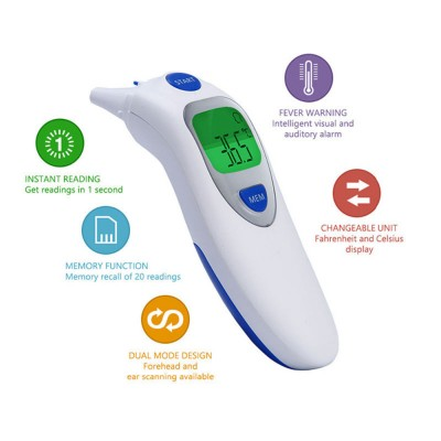 FDA Infrared Forehead Ear Thermometer Baby Thermometer 121 Electronic Thermometer