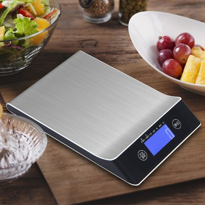 Stainless Steel Kitchen Scale 15 kg Scale Electronic Scale Platform Scale