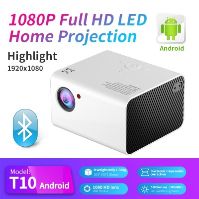 T10 Android WIFI HD Projector Portable Mini Home LED Projector 1080P