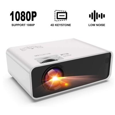 Mini Projector Portable Small 1080P Mobile Office Home Cinema HD Projector