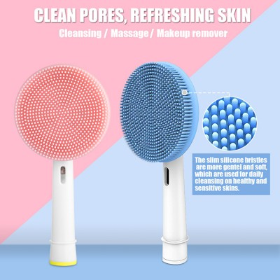 Facial Cleansing Instrument for Sonic Electric Toothbrush Silicone Cleansing Brush Head Cleansing Instrument