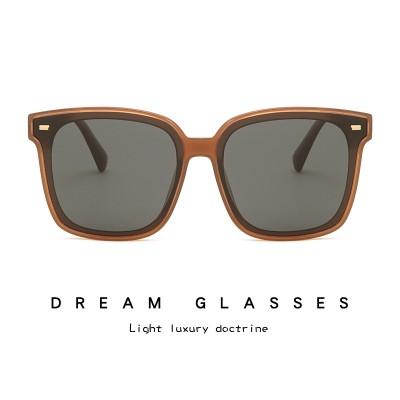 2021 Korean Fashion Trend Polarized Sunglasses TR90 Unisex Retro Rivet Sunglasses 19137