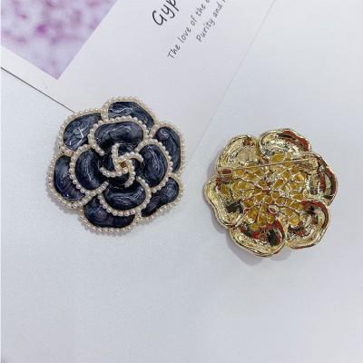 Pearl Camellia Brooch Sweater Jacket Accessories Temperament Korean Style Big Corsage Brooch