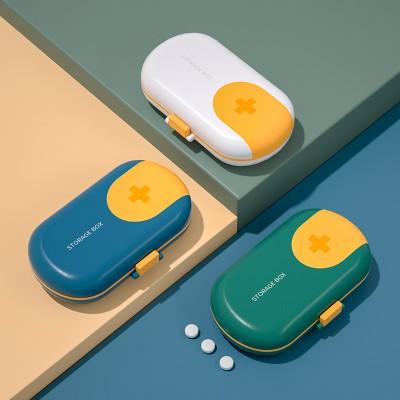 Portable Small Pill Box Mini Storage Box, Pill Dispensing Box, Medicine Cutter, Sealed Compartment Pill Box