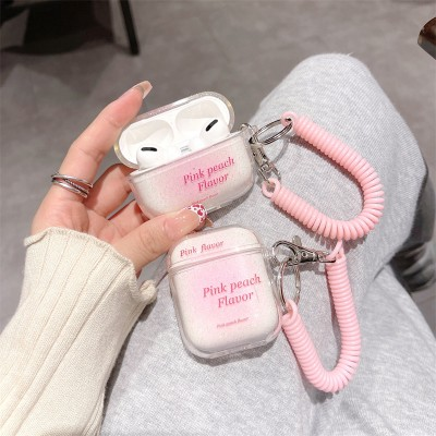 Glitter Earphone Cover Wireless Bluetooth Simple Protective Soft Shell Cover Suitable for AirPods pro1/2/3 Generation