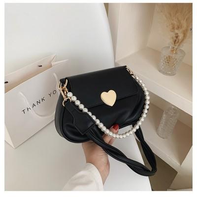 2021 Fashion Love Lock Shoulder Bag Small Korean Pearl Messenger Bag for Girls