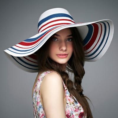 Summer Korean Beach Sunscreen Sun Hat Seaside Big Eaves Sun Hat Temperament Lady Straw Hat