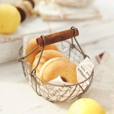 Retro Creative Food Small Basket Bread Portable Basket Storage Basket Iron Basket French Fries Snack Fried Plate