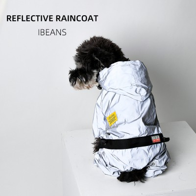 Dog Raincoat Waterproof Small Dog Bichon Hiromi Corgi Fighting Pet Raincoat Reflective Nightwear
