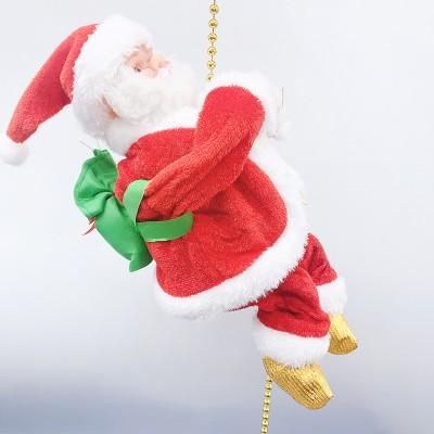 Electric Climbing Bead Curtain Climbing Stairs Santa Claus Toy Climbing Beads Christmas Window Decorations