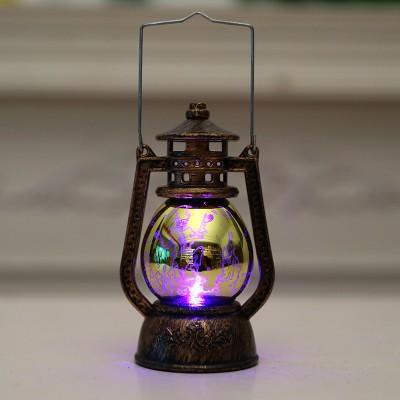 Portable Electroplating Ancient Horse Lantern Decoration LED Decoration Halloween Party Dress up Scene Layout