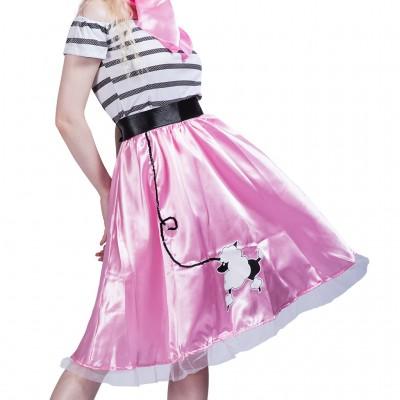 Halloween Ladies Dress Up Poodle Dress Suit Party Performance Dress Skirt Scarf Suit
