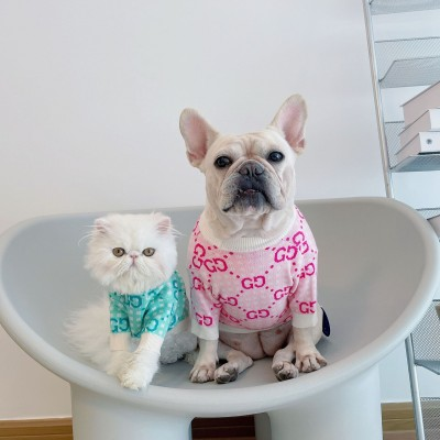 Dog Clothes GG Trendy Brand Pet Sweater Method Fight Corgi Schnauzer Teddy Cat Costume