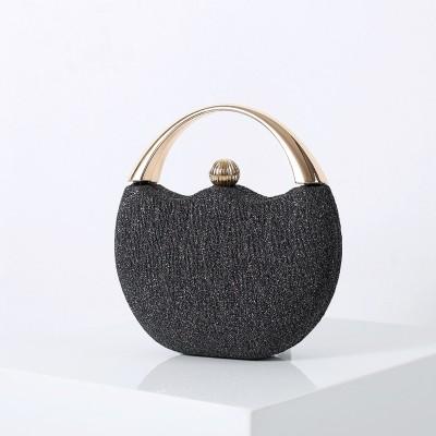Retro Glitter Portable Banquet Bag Fashion Arc Dinner Bag Wedding Bag Party Beading Bag Evening Bag
