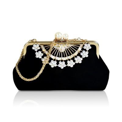 Handbag Fashion Diamond Dinner Bag Cheongsam with Chain Shoulder Bag Bridal Bag