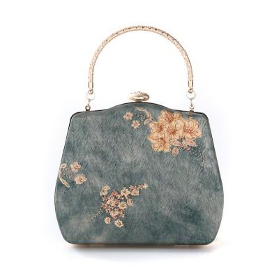 Dinner Bag Chinese Style Handmade Ethnic Silk Evening Dress Bag Portable Hanfu Style Cheongsam Bag