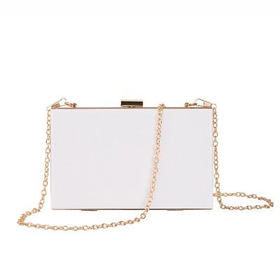 2021 Female Acrylic Box Transparent Messenger Mini Banquet Clutch Evening Bag