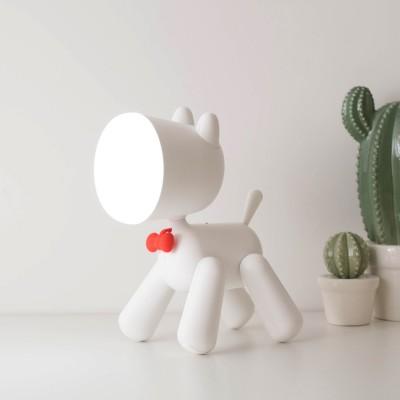 Janpim Puppy Table Lamp with Reading Lamp Cute Children Night Light Creative USB Table Lamp