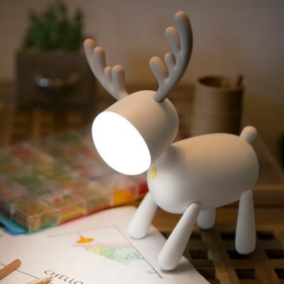Cartoon Milu Night Light USB Charging with Sleeping Silicone LED Elk Lamp Children's Student Desk Reading Lamp