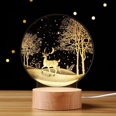 Simple Creative Moon Night Light 3D Moon Light Dandelion Bedside Lamp Decoration Table Lamp Creative Gift Birthday Gift