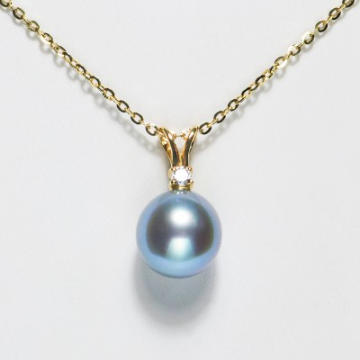 Akoya Seawater Pearl Necklace Pendant 18K Gold Clavicle Chain Ladies Simple Jewelry Gift