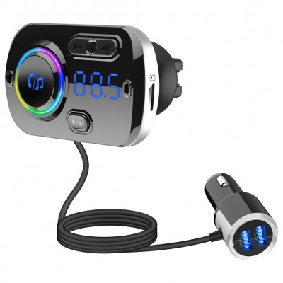 Car Kit Bluetooth FM Transmitter MP3 Player Music Radio Adapter Super Fast USB Charger