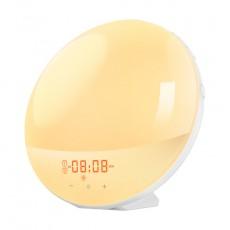 Smart Wake up Light Work Sunrise Digital Alarm Clock with Sunset Simulation Natural Sounds and Alarms