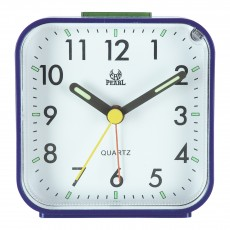 Small Battery Operated Analog Alarm Clock Silent Non Ticking Light Functions
