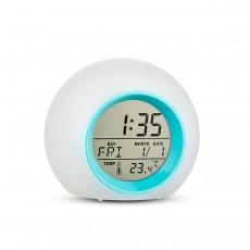 7 Colors Changing LED Light Large Display Alarm Clock Wake Up Easy Setting Digital Clock
