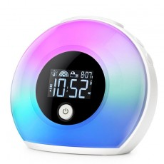 Bluetooth Dimmable Warm Light and Colorful Light Table Lamp Alarm Clock Music Player