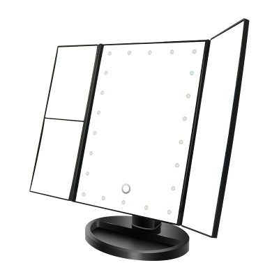 360° Rotation Touch Screen Led Lighted Makeup Mirror 2X/3X/ Magnification Vanity Cosmetic Mirrors