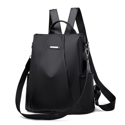 Women s Leather Backpack Anti-Theft Rucksack School Shoulder Bag