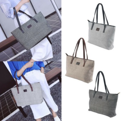 Fashion Womens Ladies Canvas Tote Bag Shoulder Handbag Large Shopper Bag