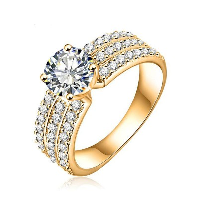 European and American Style Couple Electroplate Ring Ladies Ring Fashion Rings