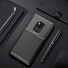 Spessn Carbon Fiber Cover Anti-Scratch Shockproof Skin Case for Huawei Mate 20 3 Colors On SALE