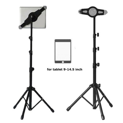 360 Degree Adjustable Tablet Tripod Floor Mount Stand Holder For iPad Pro 12.9, iPad Air Retina, Samsung 9'' -14.5'' Universal Tablet Tripod Holder
