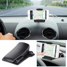 Universal Crocodile Clip Car Dashboard Holder, Spessn Car Holder Mount GPS Phone Stand for Samsung iPhone Huawei Google OnePlus Garmin 3'' - 6.5''