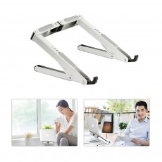 4 in 1 Foldable Laptop Stand Universal Mount Portable Aluminum Alloy Holder for Macbook iPad iPhone Samsung Tab