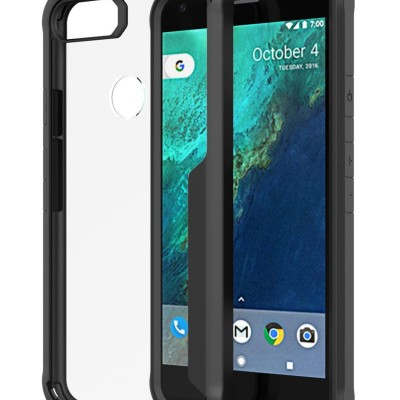 Spessn For Google Pixel 2 XL (2017 Release) Clear Case Tough Armor Bumper Flexible TPU Edge Rigid Clear Back Cover Slim Fit 3 Color