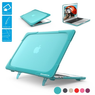 For Apple Macbook Pro 15 Shell A1398 Case With Stand Armor Heavy Duty Dual Layer Frosted PC Protective Cover US Stock