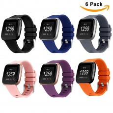 6 Pack For Fitbit Versa Replacement Strap Soft Sport Silicone Watch Band Smart Wristband Bracelet for Fitbit Versa Tracker On sale