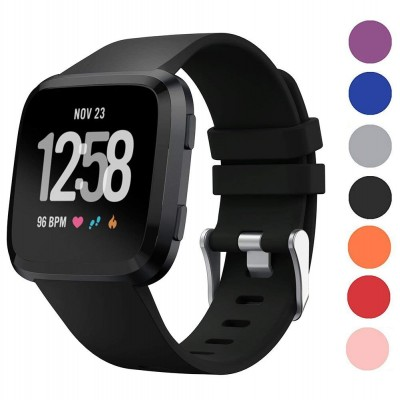 For Fitbit Versa Tracke Replacement Strap Soft Sport Silicone Watch Band Wristband Bracelet for Fitbit Versa Smart Watch On sale