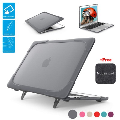 Laptop Case for Macbook Air 13 inch A1369 A1466 Hard Shell With Foldable Stand & Vent Slots Heavy Duty Protective Cover Sale