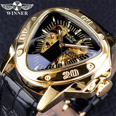 European and American style men's casual watch heart-shaped hollow large dial men's automatic mechanical indicator