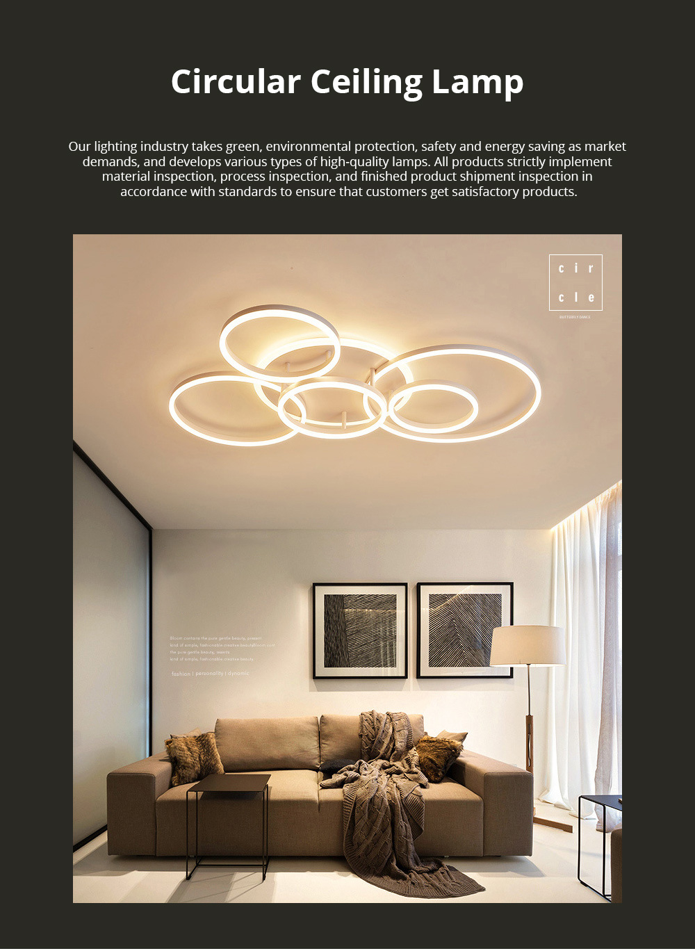 Modern Minimalist Round Led Ceiling Light Creative Nordic Led Ceiling Personalized Lighting Home Dining Room Lamp 0